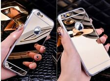 Iphone 7 Case, Mirror Case Electroplating Mirrored Phone Case TPU material Soft