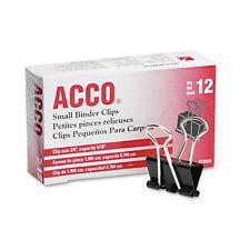 ACCO Small Binder Clips, Steel Wire, 5/16 Capacity 3/4w, Black/Silver, 5 Dozen