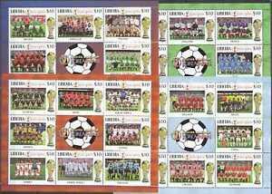 K0261 LIBERIA SPORT FOOTBALL WORLD CUP KOREA JAPAN 2002 ALL TEAMS !!! 4KB mnh