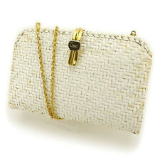 Lancel Clutch bag White Gold Woman Authentic Used Y3850