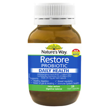 Nature's Way Restore Probiotic Daily Health 28 Capsules Fridge Free Natures