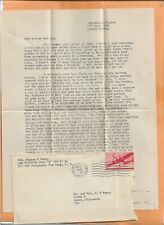 WORLD WAR II MILITARY MAIL APO 758 1945 FRANCE WITH LETTER