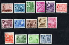 North Borneo SC #261-275 SG 372-386 Complete Set MH QEII 1954