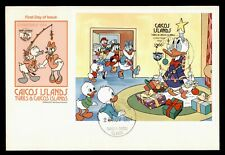 DR WHO 1984 CAICOS ISLANDS DISNEY DONALD DUCK S/S FDC C124959