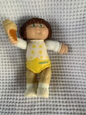 1984 Cabbage Patch Kids Girl Doll with Ice Cream Figure Brunette Yellow & White