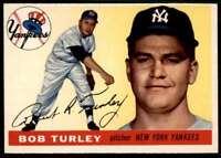 1955 Topps Set Break Bob Turley New York Yankees #38