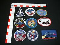 Air Force Aircraft fighter Patches 9 patches in set lot collection