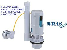 "Universal Cable Push Button Dual Flush Toilet Cistern Valve 1.5""- 2"" WRAS"