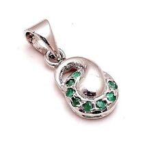 Free Chain with 925 Sterling Silver Natural Emerald Pendant new Artistic Design
