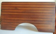 Vintage Unusual Wooden Sewing Table Collapsible Tamboured