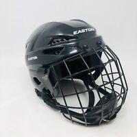 Easton E200 Hockey Helmet Black In Color Black Face Mask Straps