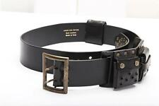 DRIES VAN NOTEN Womens Black Casual Leather Studded Eyelet Pocket Belt 85
