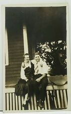 RPPC Guy and Gal Posing on the Porch c1910 Real Photo Postcard H13