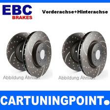 EBC Discos de freno delant.+EJE TRASERO Turbo Groove para Mercedes-Benz Viano