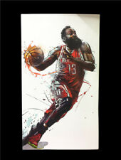 Large 1:9 Scale NBA James Harden 13 Rockets Action Figures Collection Toy Gift