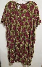 JBS women plus size 18 Multicolor floral Dress short sleeve Lot#22