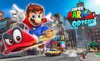 Super Mario Geburtstag Eßbar Tortenaufleger backen Tortenbild Party Deko Odyssey