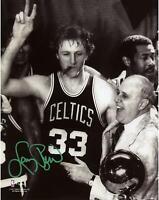 "NBA Boston Celtics Larry Bird Autographed 8"" x 10"" Photo"