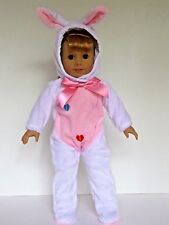 "White Bunny Costume Easter Fits 18"" American Girl Doll Clothes"