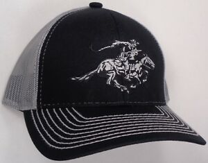 Hat Cap Licensed Winchester Grey Mesh Black OC