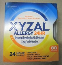 NEW Xyzal 24HR Allergy 24 Hour Relief 5mg Antihistamine Tablets 80 Count