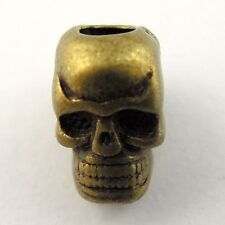 **09784 Vintage Bronze Alloy Skull 10*9*7mm European Bead Hole Size 5mm 10pcs