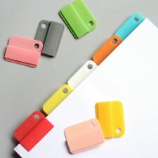 Rainbow Colored Paper Clips Notebook Planner Office Tap Binder Dividers Bookmark