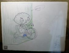 """12 x 9 FAMILY GUY EXCLUSIVE EDITION """"STEWIE ON TRICYCLE"""" LITHO PRINT 2005 w/ COA"""