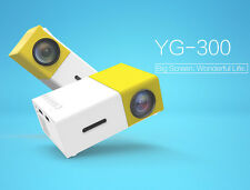 YG300 Mini Portable Projector LED Home Theater Projector PC&Laptop USB/AV/HDMI