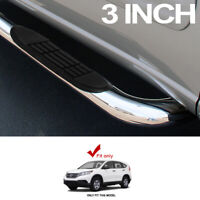 "3/"" Black Side Step Bars Running Boards HD For 01-07 Highlander//04-09 Rx330//RX350"