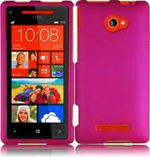 For HTC Windows 8X Rubberized HARD Protector Case Snap On Phone Cover Hot Pink