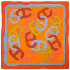 "§§§ Chale shawl cachemire soie Cashmere Silk Hermès neuf "" Circuit 24 "" §§§"