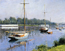 Gustave Caillebotte - The Bassin D'Argenteuil 1882    - 24'  CANVAS