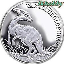 Poland 2009 silver Dinosaur Parasaurolophus