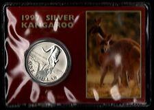AUSTRALIA 1997 SILVER ARGENTO KANGAROO 1 Oz. CANGURO SILBER OUNCE FOLDER