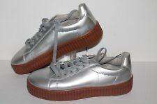 J. Adams Creeper Platform Casual Sneakers, Silver, Vega, Women's US 10
