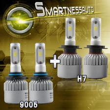 9005+H7 Combo CSP Headlight 600W 60000LM White LED Kit Total Bulbs 6500K White