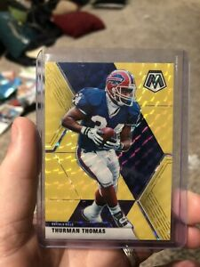 2020 Mosaic Football Gold Prizm 3/20 Thurman Thomas Bills RARE!