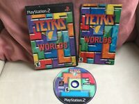 Tetris Worlds Complete CIB Game Case Manual Blue Disc PS2 Playstation