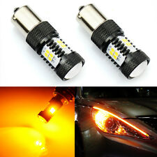 2x 14-SMD Amber Yellow 1156 BA15S Motorcycle Short LED Turn Signal Lights Bulbs