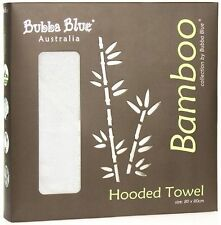 Bubba Blue 80x80cm Bamboo Hooded Towel - Optical White