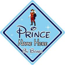 Personalised Disney Prince On Board Car Sign – Pocahontas Prince John Rolfe