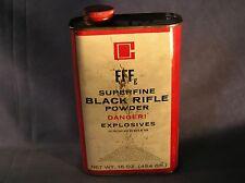 Ti-2.4 - Vintage Fffg Goes Black Rifle Powder Tin Empty
