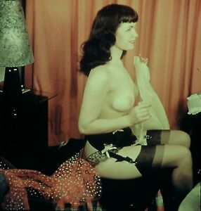 Bettie Page Pin-up Nude 1950's Stereo Realist slide 3D Stereoscopic