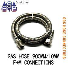 """FLEXIBLE GAS HOSE - ½"""" F/cone x ½"""" MBSPT x 900mm"""