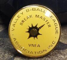 Valley 8 Ball League VNEA Association Break Master pin