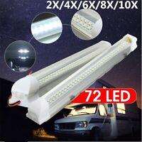 12V 72 LED Interior Light Strip Lamp Bar On/Off Switch Car Caravan Lorry Boat