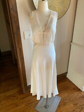 New Flora Nikrooz BHLDN Ivory Bridal Lingerie Lace Open Back Gown L Honeymoon