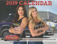 2019 Racing Junk Grid Girls signed SEMA Show Promo Calendar