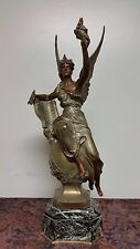 Antique Spelter Statue Of Angel was sculpted by Marcel Debut.Circa 1890